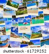 Stack of summer beach shots  - nature and travel background (my photos) - stock