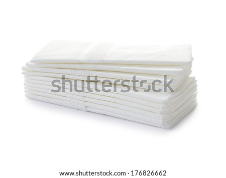 stack of tissue paper isolated with clipping path - stock photo