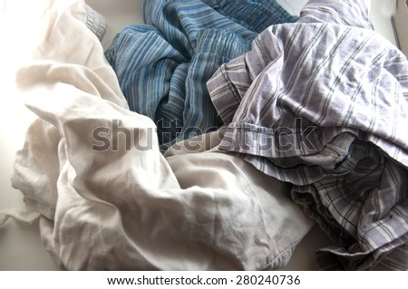 Stack of underpants - stock photo