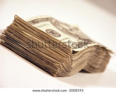 Stack of USA money - stock photo