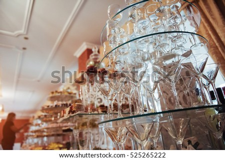 stack of wine glasses