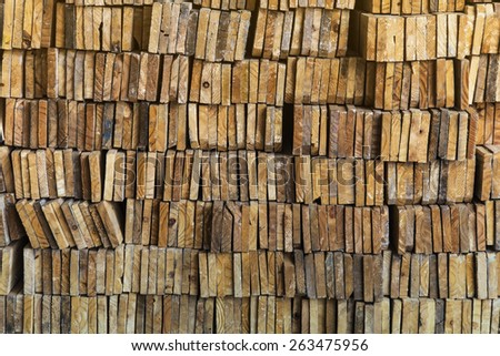 stack of wood  texture background - stock photo