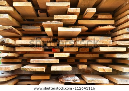 Stack of wooden bars - stock photo