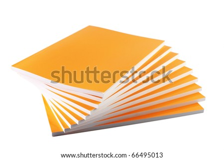 Stack of Yellow Books - stock photo