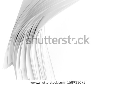 Stack white paper space for text background - stock photo