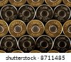 stacked bullets - rims - .38 special - stock photo