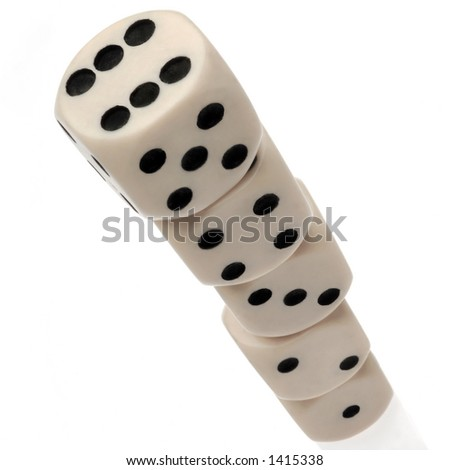 stacked dice