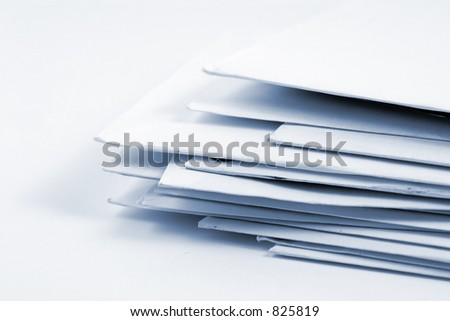 Stacked Mail - Close up on Envelopes