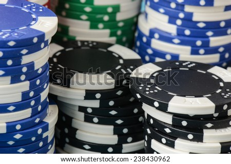 Stacked Poker Chips