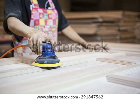 Stacked wood pine timber production for processing and furniture production at woodworking enterprise,door industrial factory.  - stock photo