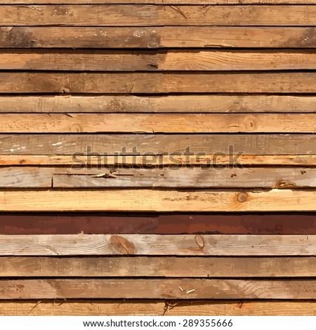 Stacked Wooden Boards Seamless Texture For Your Design. - stock photo