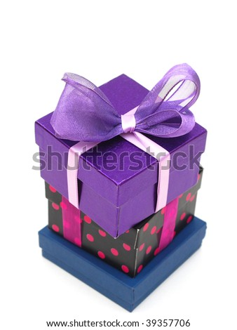 Stacking gift boxes