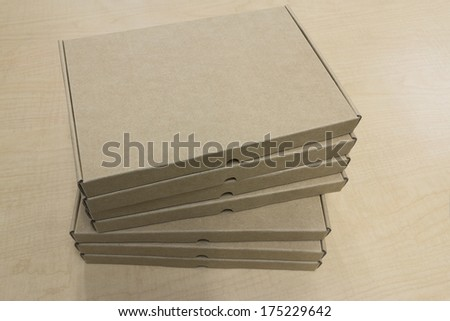 Stacking small paper box - stock photo