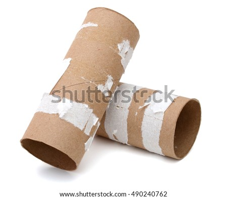 stacking with empty toilet rolls