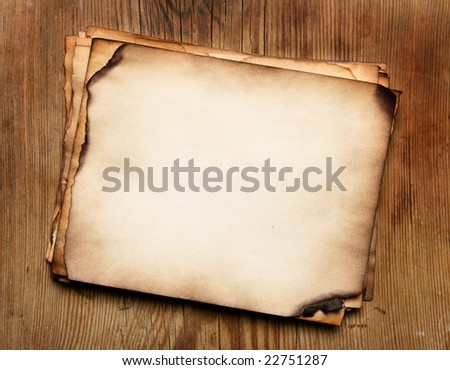 Stacks old papers on a wood table - stock photo