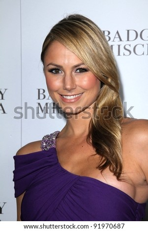 Stacy Keibler at the opening of the Badgley Mischka Flagship on Rodeo Drive, Beverly Hills, CA. 03-02-11