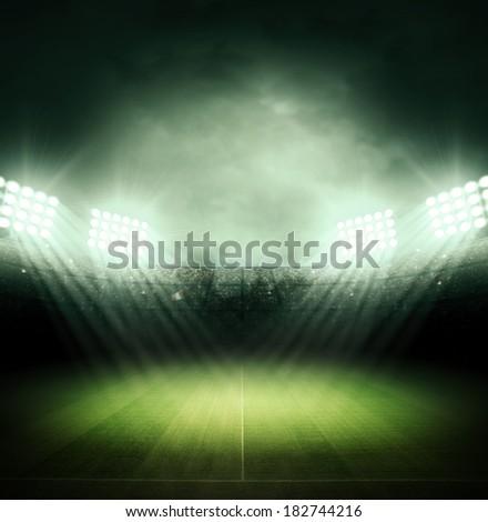 Stadium at night - stock photo
