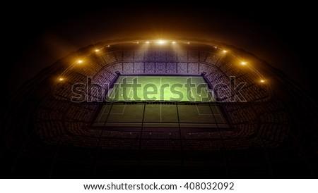 stadium light - stock photo