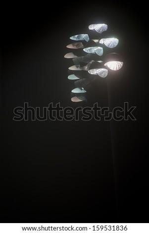 Stadium Lights in fog no.13 - stock photo