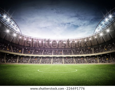 Stadium night - stock photo
