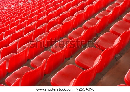 Stadium seating - stock photo