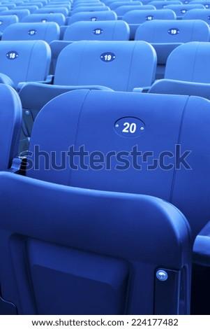 Stadium seats. - stock photo