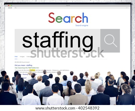 Staffing Human Resources Hiring Recruitment Company Concept - stock photo