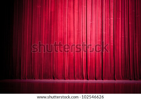 Stage curtain lights - stock photo