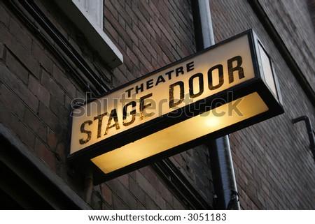 Stage door - stock photo