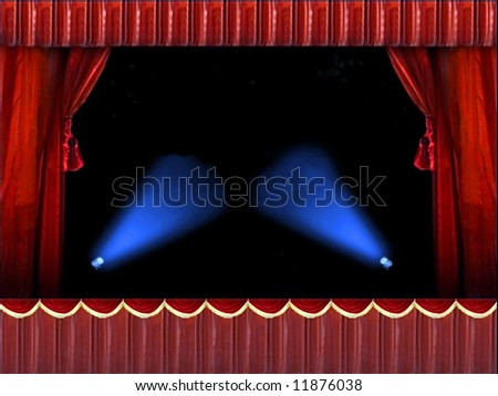 Stage frame with lights for your messages - stock photo