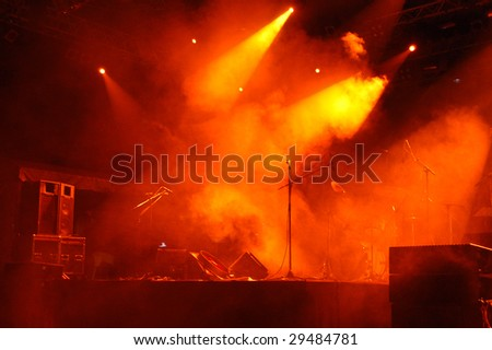 Stage In Lights 2 - stock photo