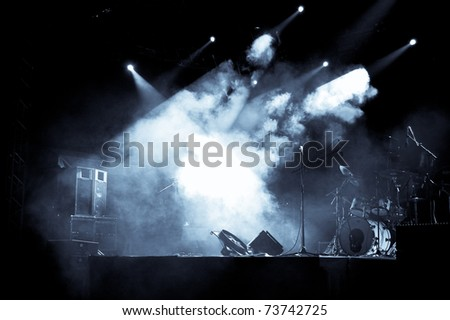 Stage in Lights - Selen - stock photo