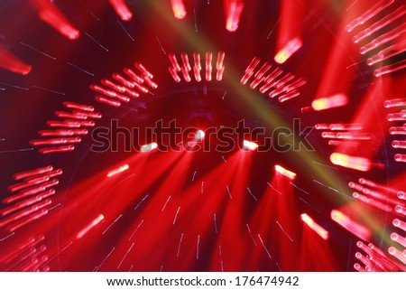 stage lighting effect in the dark - stock photo