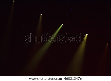 Stage lights at concert