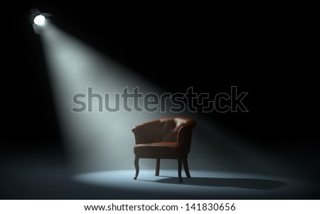 stage spotlight - stock photo