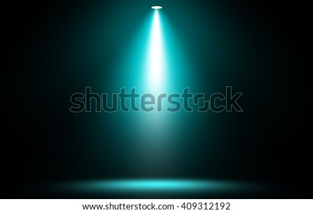 Stage spotlight blue background. - stock photo