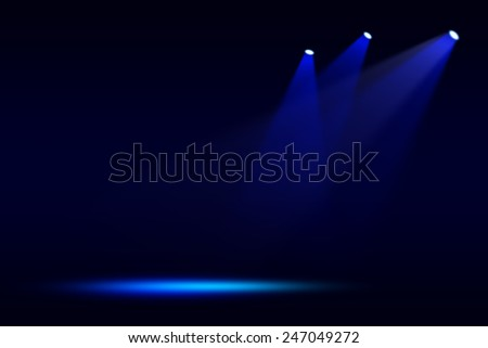 Stage theater on blue background  - stock photo