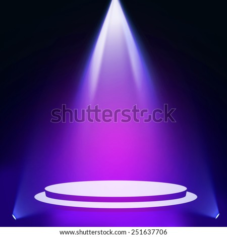 Stage theater on blue pink background