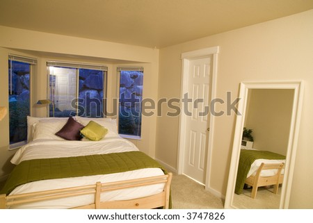 Staged bedroom - stock photo