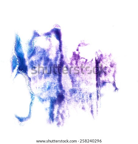 stain with lilac, purple watercolour paint stroke watercolor isolated