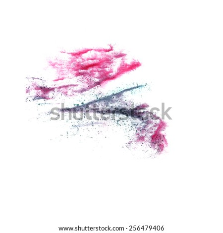 stain with pink, black watercolour paint stroke watercolor isolated