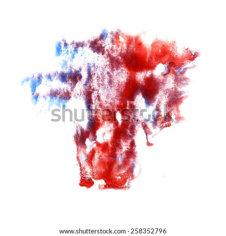stain with red, purple paint stroke  watercolor isolated