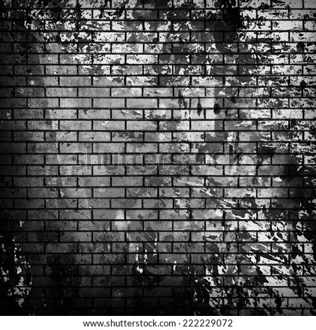 stained brick wall  - stock photo