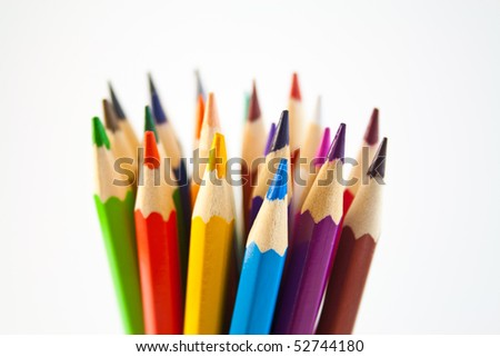 Stained color pencils