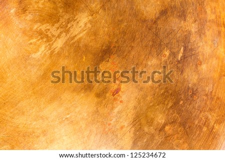 Stained copper metal texture background - stock photo