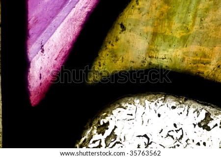 stained glass - stock photo