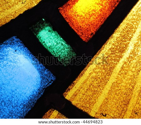 Stained glass abstract 3 - stock photo