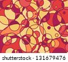 Stained Glass Abstract Background-Circles intersect on a multicolored stained glass abstract background - stock photo