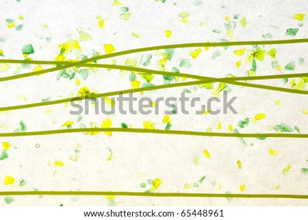 stained glass confetti fused texture background - stock photo