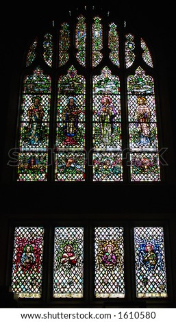 stained glass window in a church - stock photo
